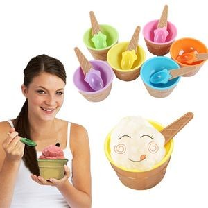 Ice Cream Bowl Spoon Set