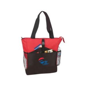 Poly Zippered Tote Bag (18